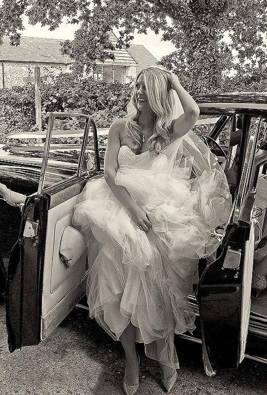 Bath Wedding Photographer Bride in Car